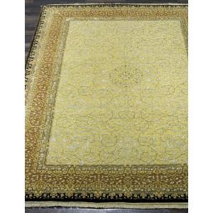 Ковер 864 - BEIGE/RUST - Прямоугольник - коллекция Индия шерсть шелк 14x14