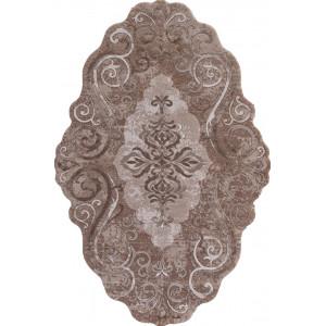 Ковер 00858A - BROWN / BROWN - Прямоугольник - коллекция SAFIR