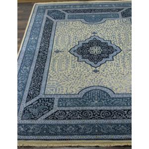 Ковер 867 - IVORY/D.BLUE - Прямоугольник - коллекция Индия шерсть шелк 14x14
