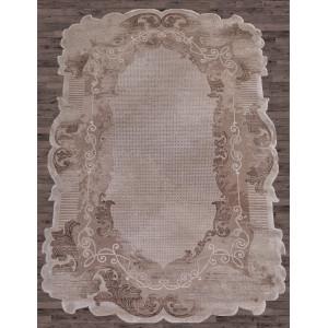 Ковер 00857A - BROWN / BROWN - Прямоугольник - коллекция SAFIR