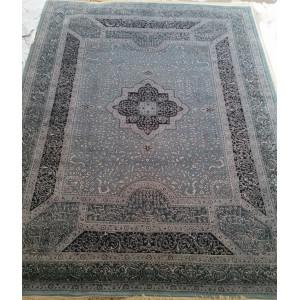 Ковер 867 - TURG/D.BLUE - Прямоугольник - коллекция Индия шерсть шелк 14x14