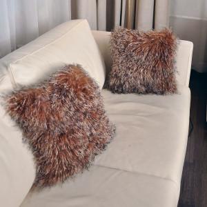 Две подушки односторонние из меха ламы А 2150