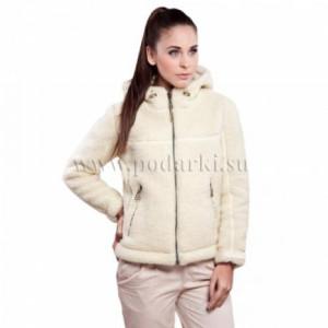 """Куртка из овечьей шерсти """"Адвентур"""", белая"""