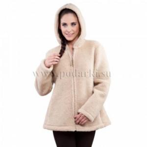 "Куртка из овечьей шерсти ""Агнес"", беж"