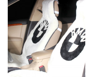 Накидка на сиденье автомобиля меховая А522