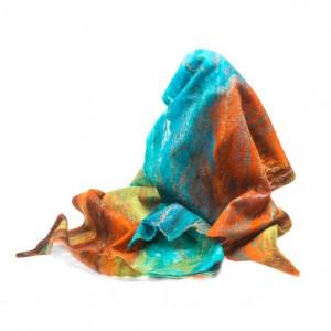 """Валяный шарф """"Цветной"""""""