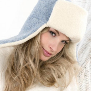 Сибирская шапка SIBERIAN WOOL, голубая