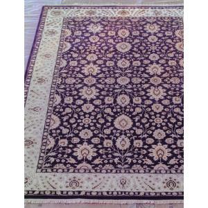 Ковер 802 - D.PURPLE/IVORY - Прямоугольник - коллекция Индия шерсть шелк 14x14