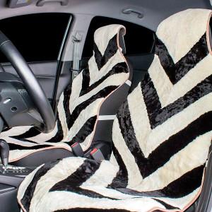 Накидка на сиденье автомобиля меховая А506