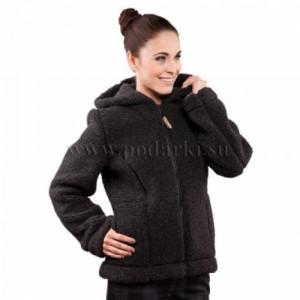 """Куртка из овечьей шерсти """"Барбара"""", черная"""