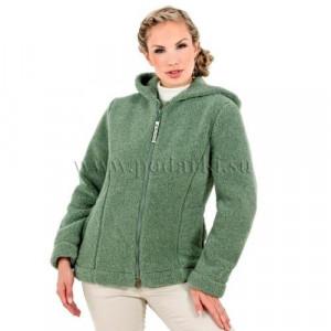 """Куртка из овечьей шерсти """"Барбара"""", зеленый мох"""