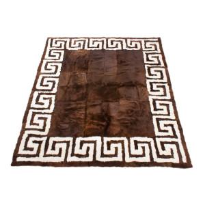 Ковёр меховой греческий орнамент М399