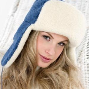Сибирская шапка SIBERIAN WOOL, синяя