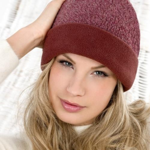 Простая шапка LUAN, бордо