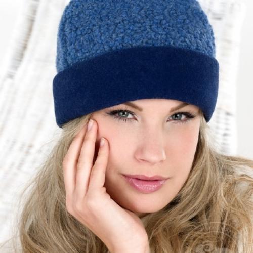 Простая шапка LUAN, синяя