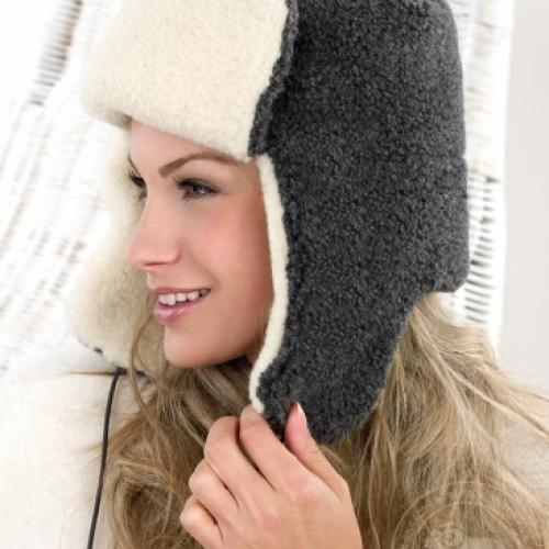 Сибирская шапка SIBERIAN WOOL, графит