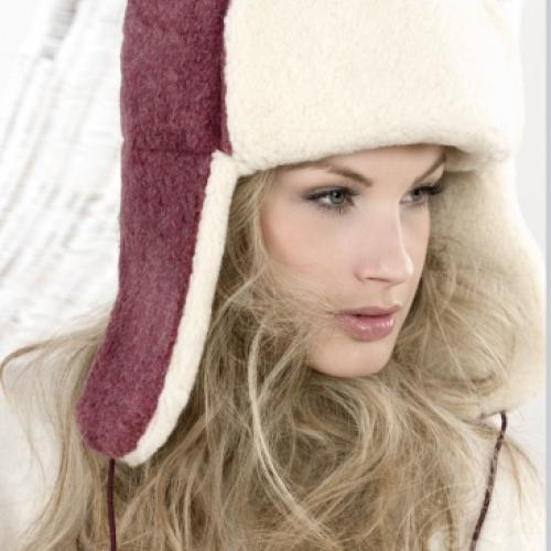 Сибирская шапка SIBERIAN WOOL, бордо