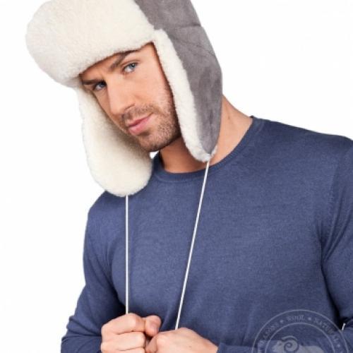 Велюровая шапка SIBERIAN VELOUR, серая