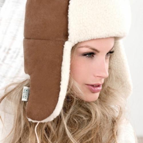 Велюровая шапка SIBERIAN VELOUR, коричневая