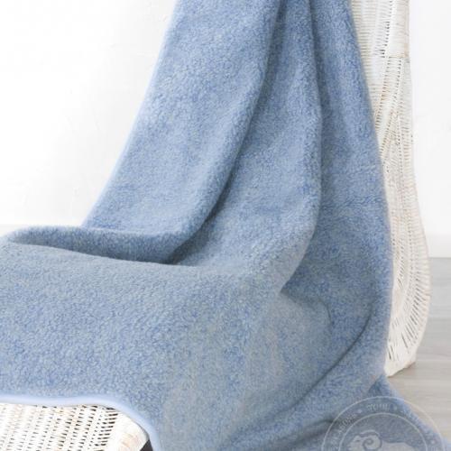 Плед из шерсти Тумблер, голубой