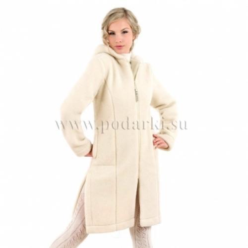 """Пальто женское """"Лина"""", белое"""