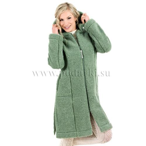 """Пальто женское """"Лина"""", зеленый мох"""