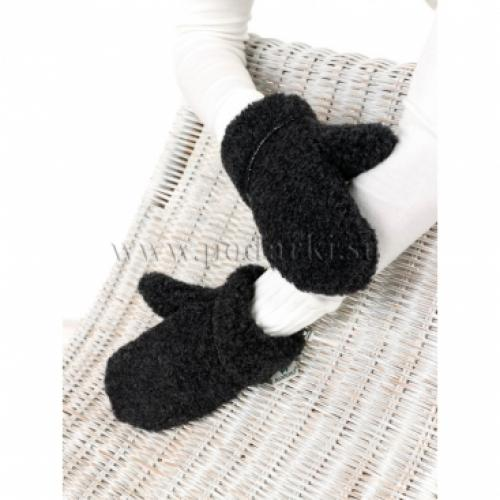 Варежки из овечьей шерсти, черный